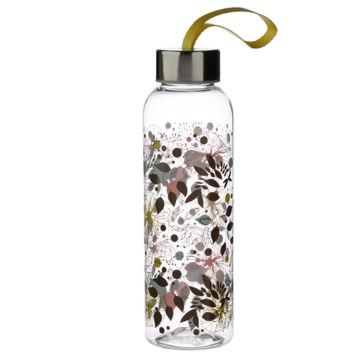 WATER BOTTLE  REUSABLE  BOTANICAL WISEWOOD  Botanical Wisewood 500ml Reusable Water Bottle with Metallic Lid  Fun for all the family at home work or on holiday, our new range of bottles are ideal for life on the go  Printed with a funky designs they are colourful and practical  Food safe   Not suitable for dishwasher or microwave  http://bit.ly/3bVqzTk