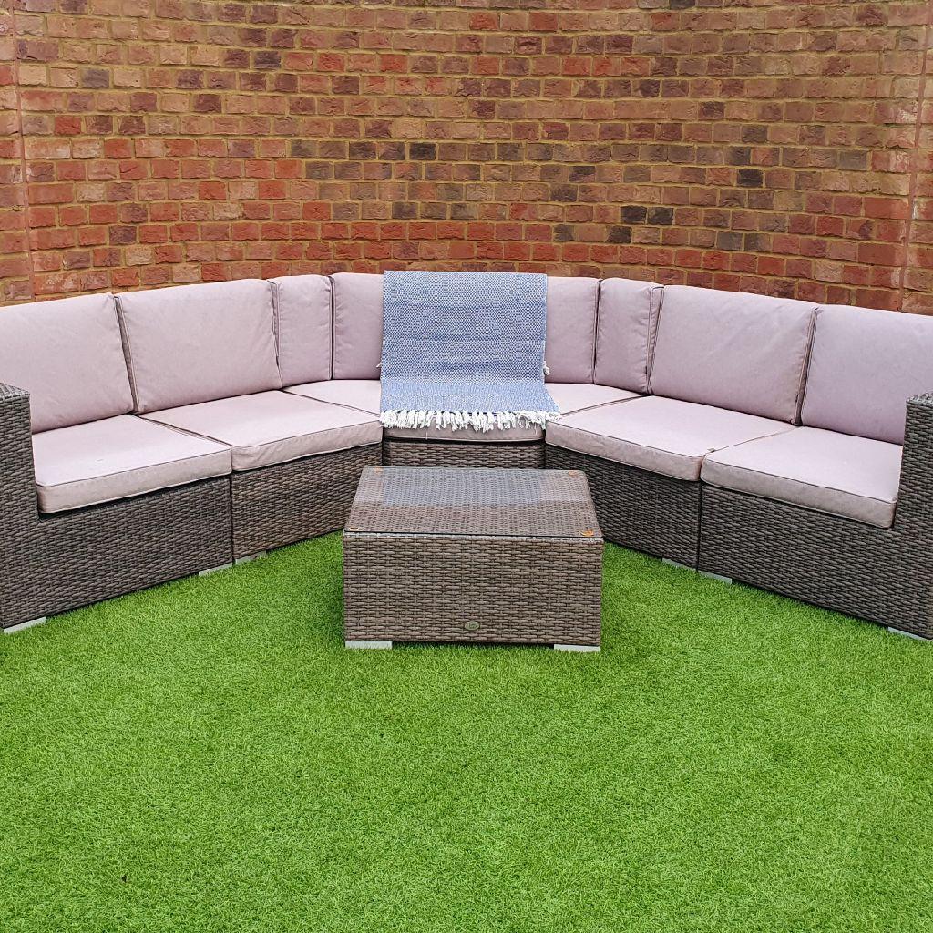Garden Corner Sofa (Rattan) by Katie Blake