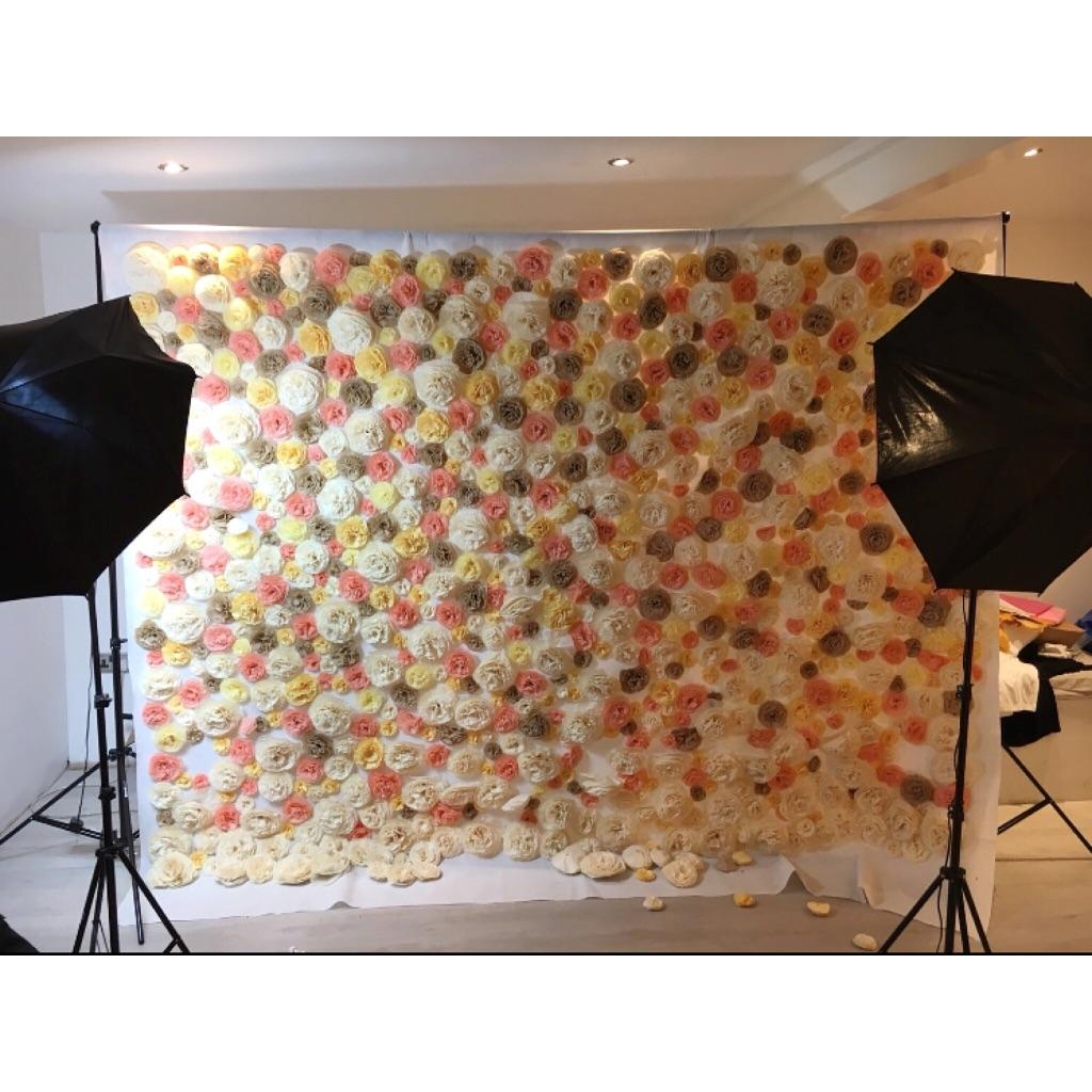 Custom Handmade Flower Wall Backdrop