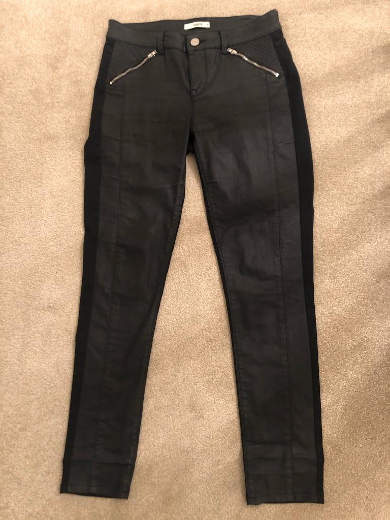 Ladies Black Jeans - size 12 Oasis