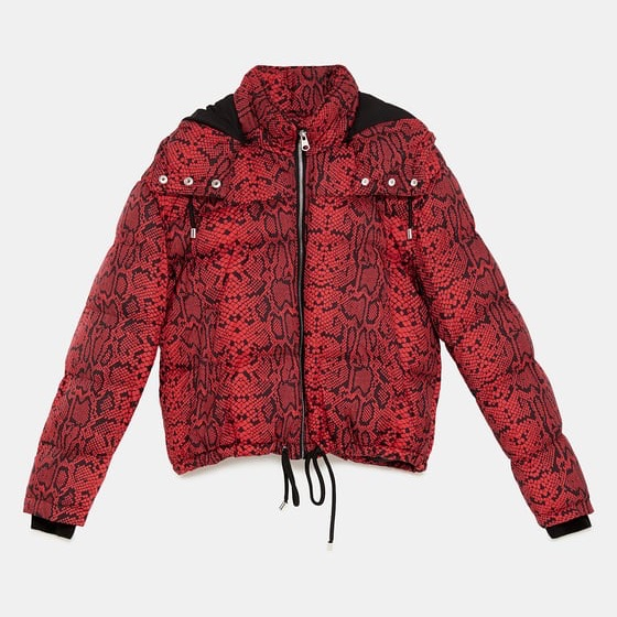 Red Zara snakeskin jacket