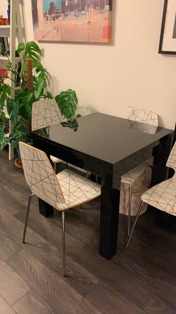 Extendable table from Next and 4 IKEA chairs