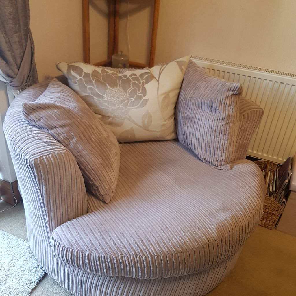 Round Mink Love Seat/2 Person Comfy Chair
