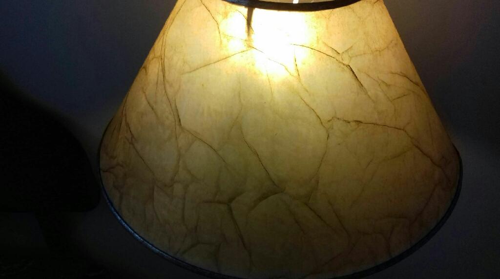 Handmade standing lamp