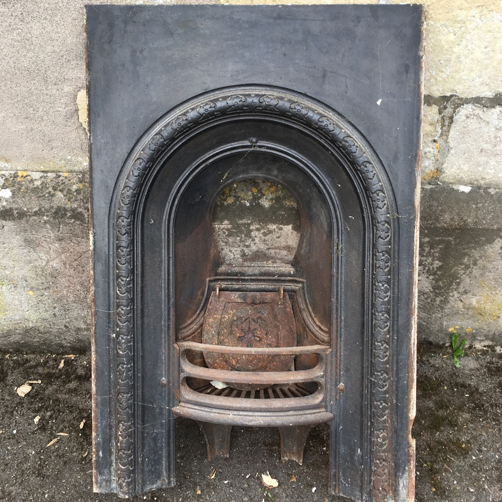Antique cast iron fire surround Victorian