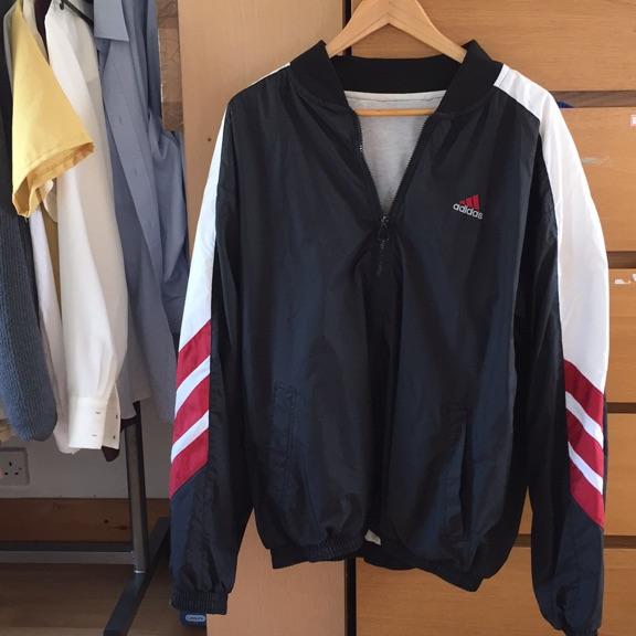Vintage adidas oversized bomber style jacket L