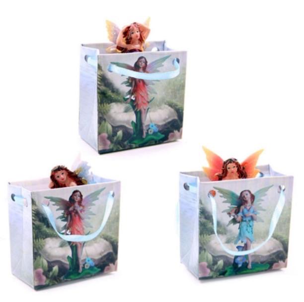 Cute mini flowers fairy figurine in a gift bag