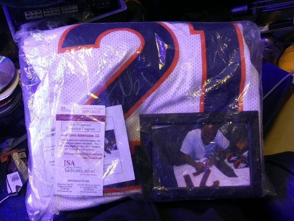 Signed Broncos jersey