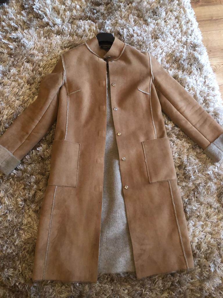 Women's faux sheepskin coat, John Lewis