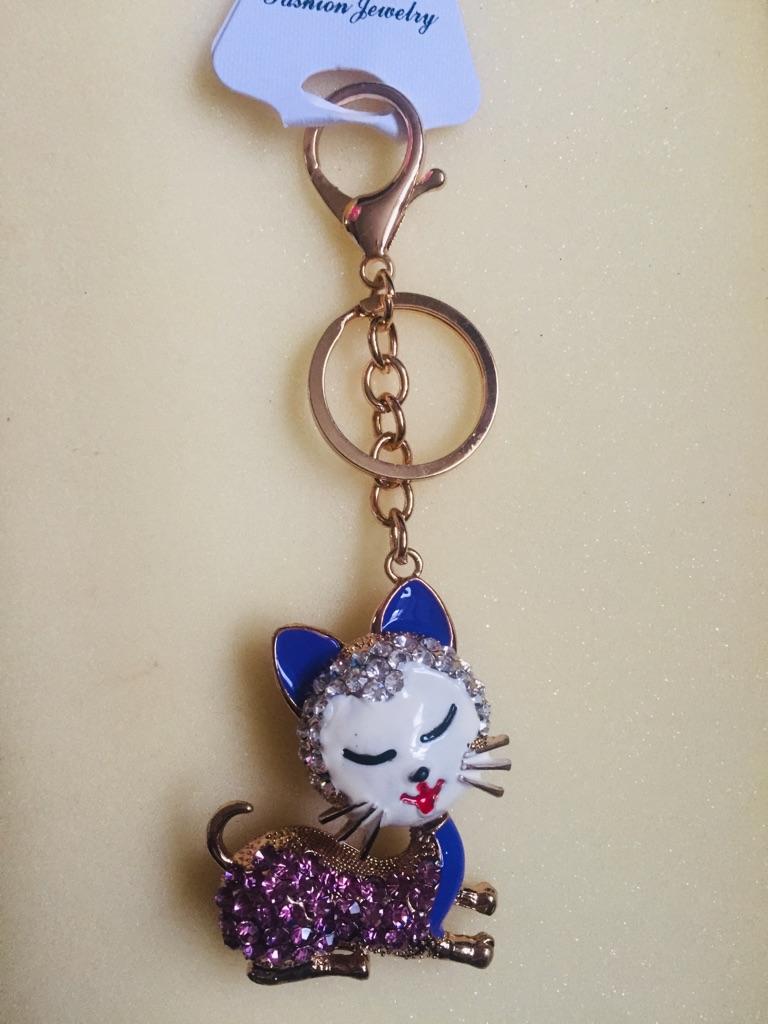 Keys ring holder with cat.
