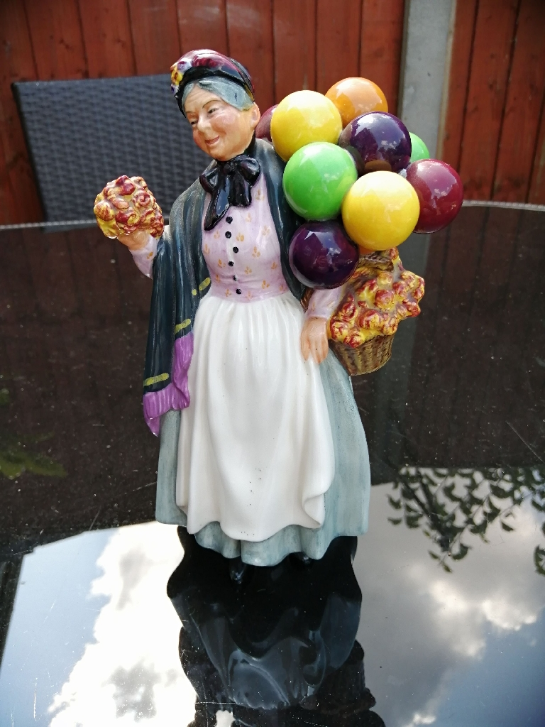 A Vintage Royal Doulton Figurine - Biddy Pennyfarthing HN 2843