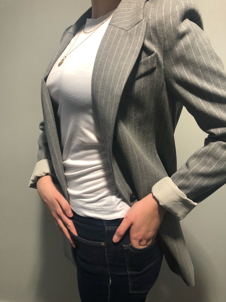 H&M Grey Blazer Jacket