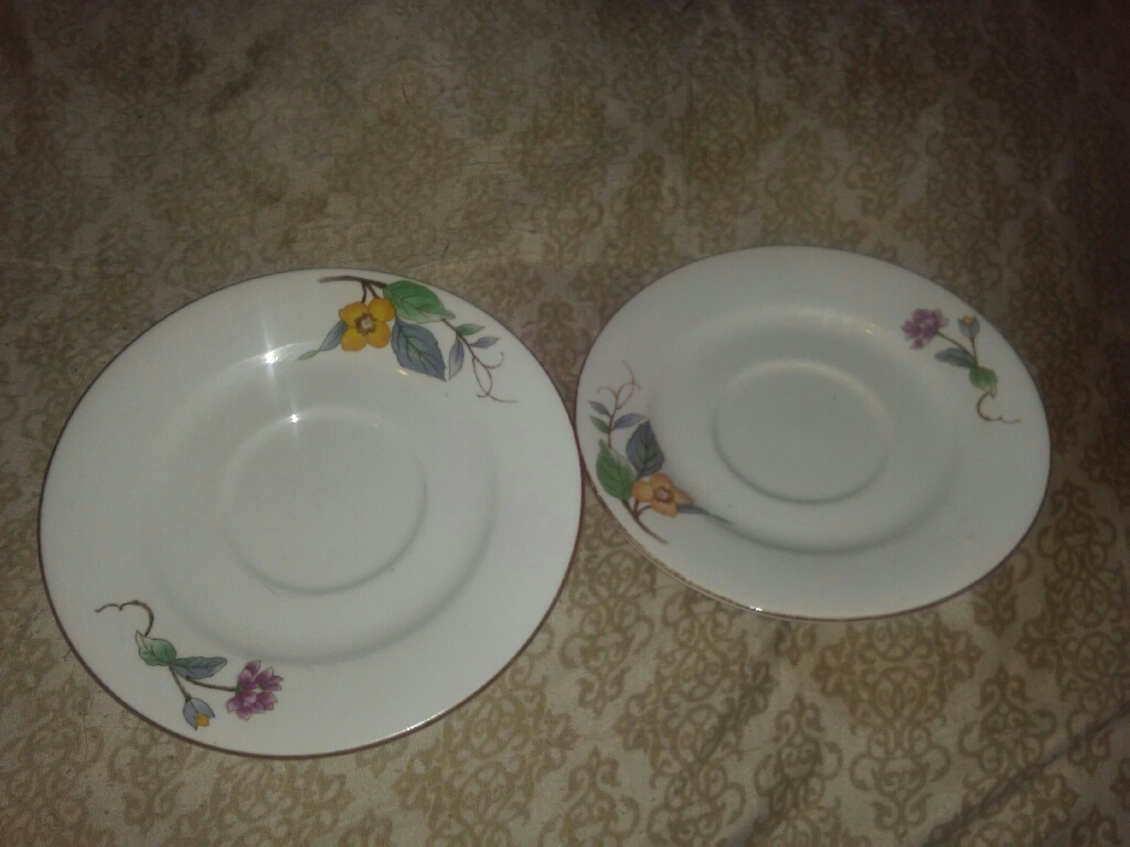 2 Salad Dish plates. From Wood hill..