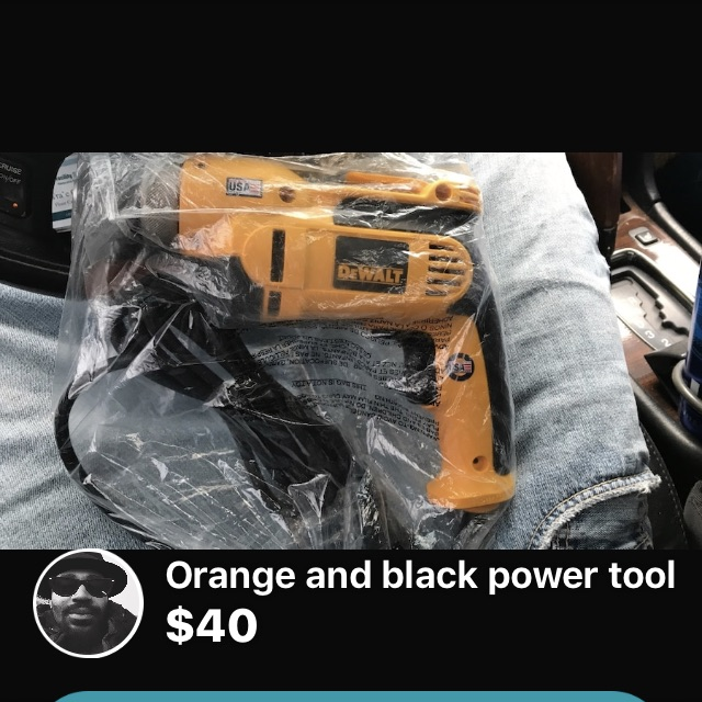 Dewalt power drill w/ plug in cord