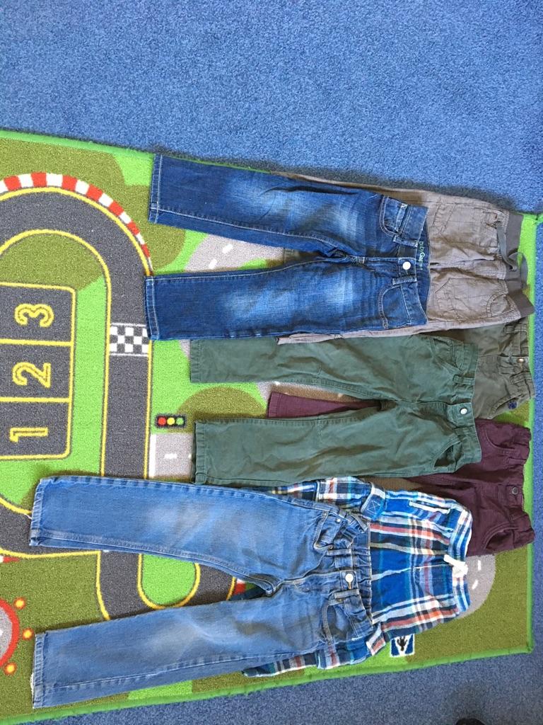 Boys jeans/trousers bundle age 4-5