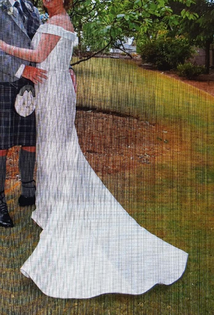 Long Ivory Wedding Dress uk 12