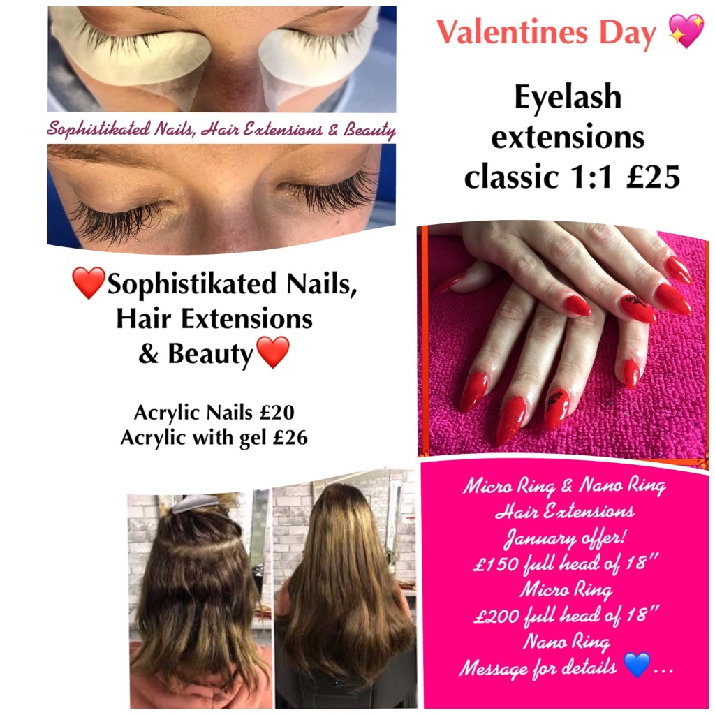 Acrylic Nails Valentines Day