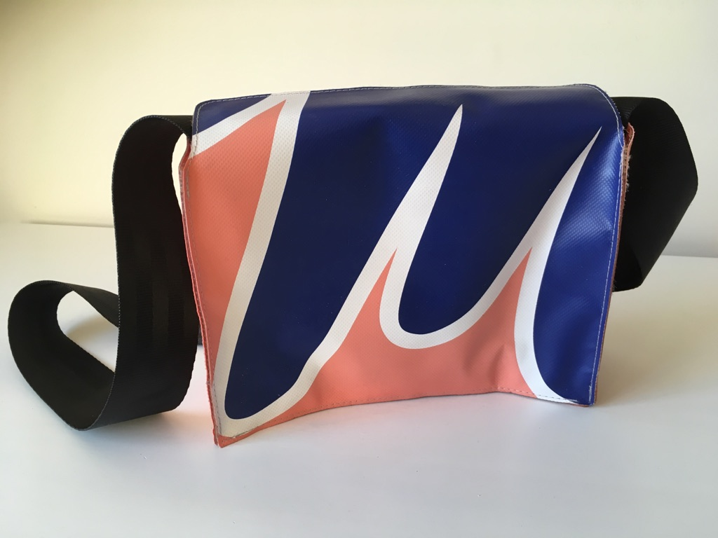 Pink & blue crossbody or shoulder bag