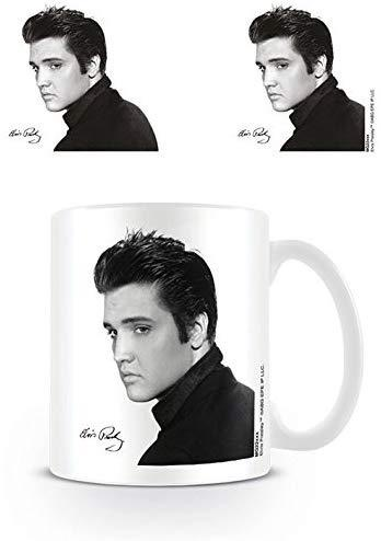 Elvis portrait ceramic mug