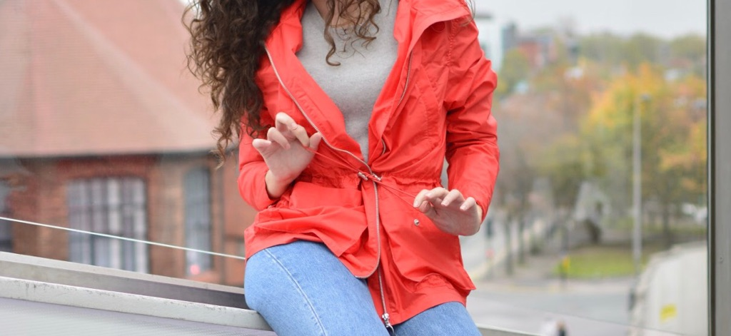 H&M Red Rain Coat