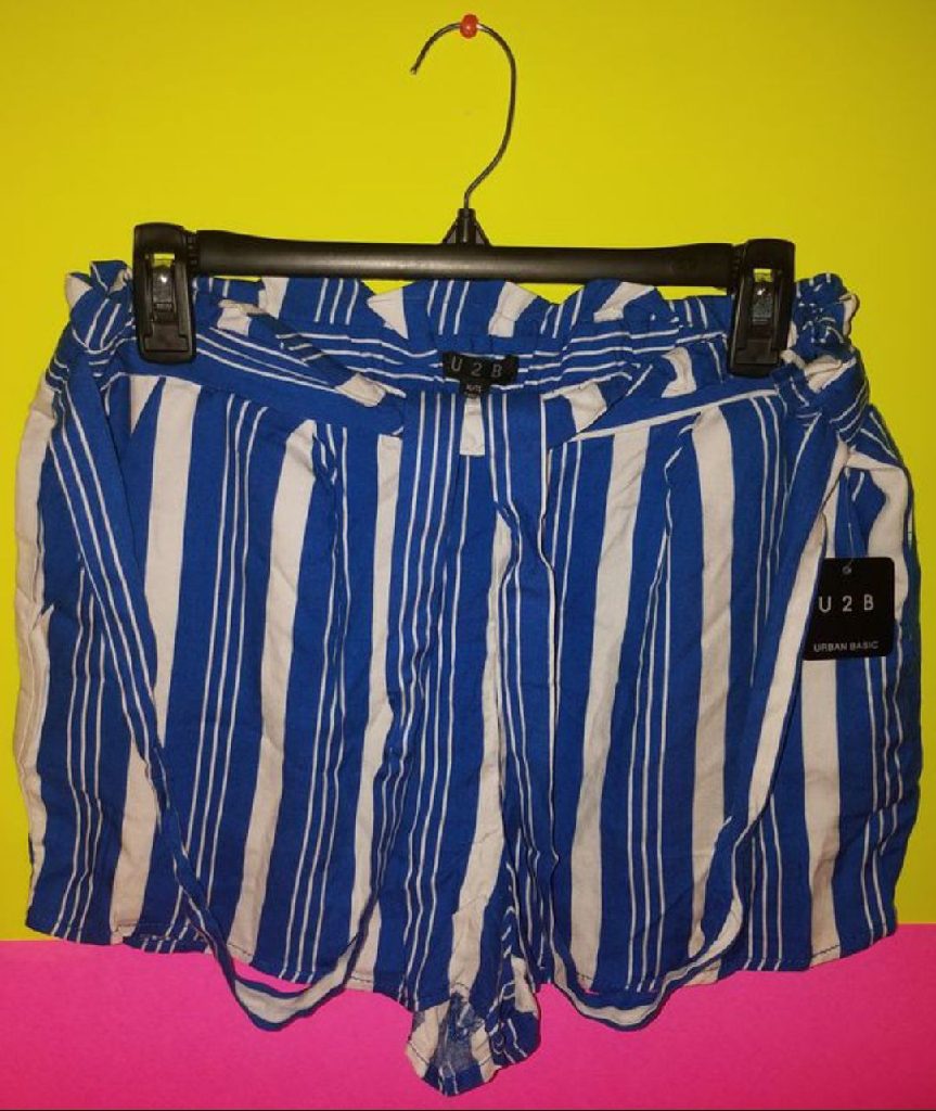 Blue & White Stripped Short's