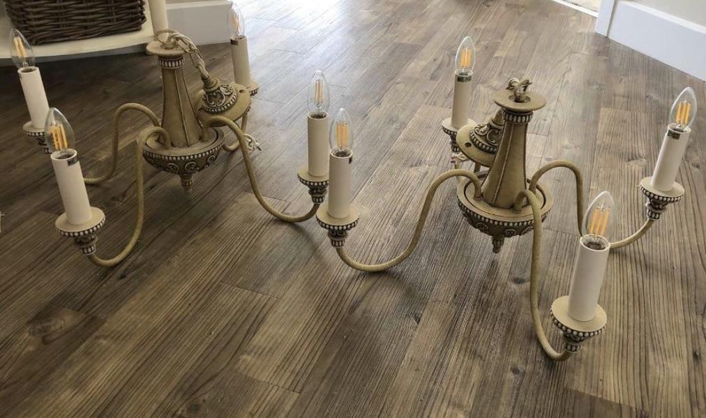 Bailey antique cream 4 light chandelier pendant