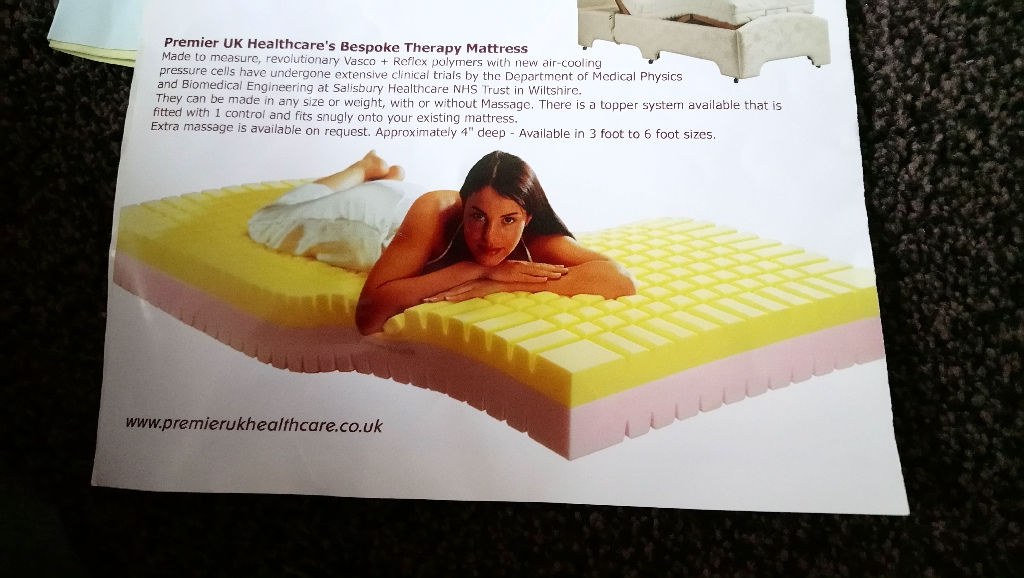 Massage mattress with remote control immaculate condition