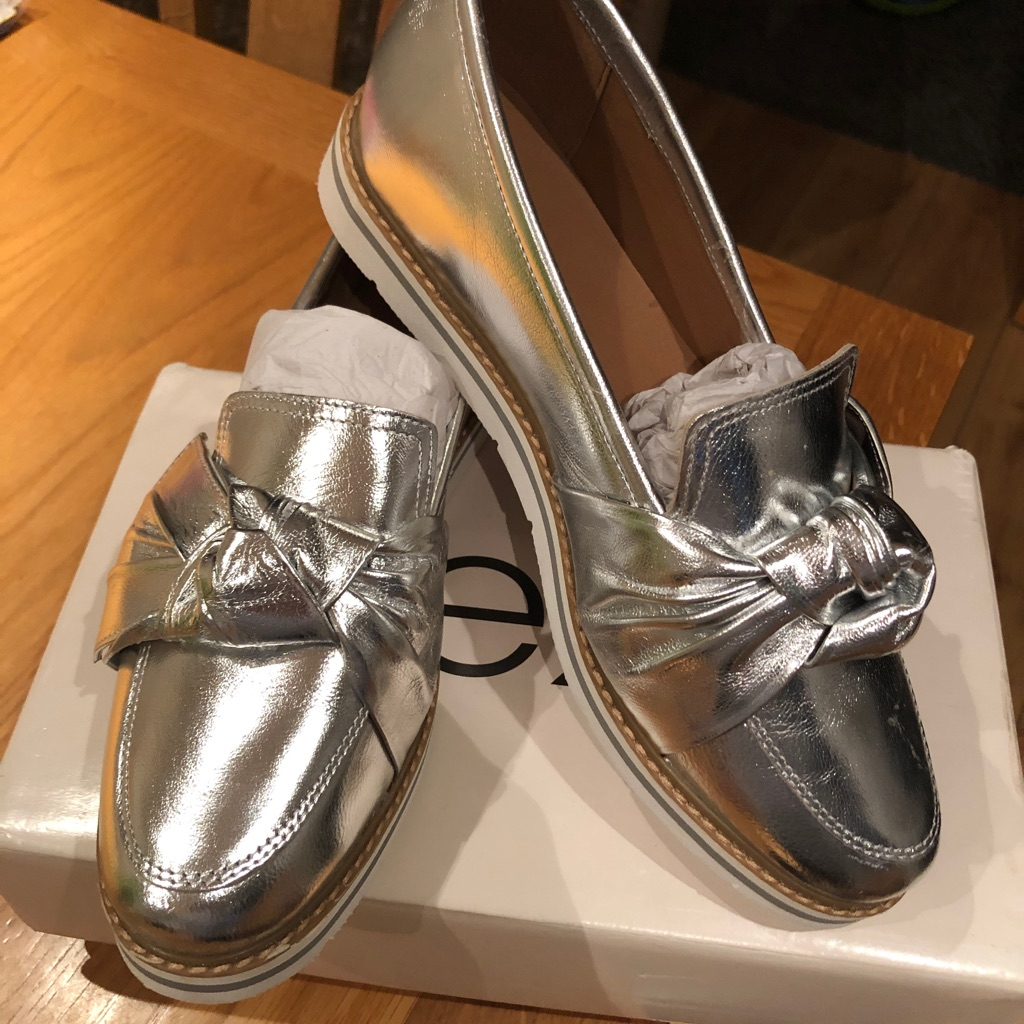 Next Silver Flats Size 7