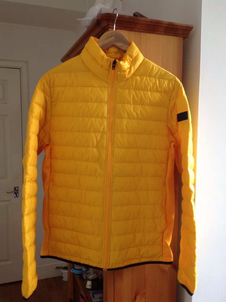 Jack Jones Yellow Chicago Puffer Jacket, Size: Medium For Sale.