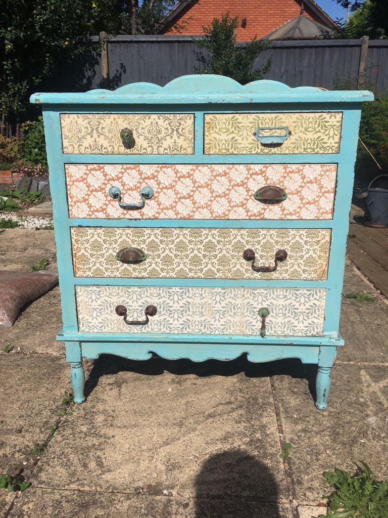 Quirky wooden chest of drawers