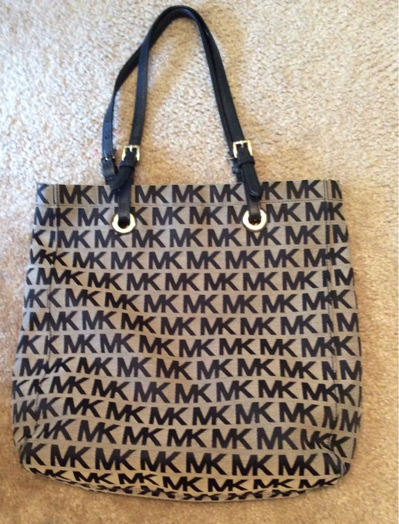 MK Brown/Black Tote