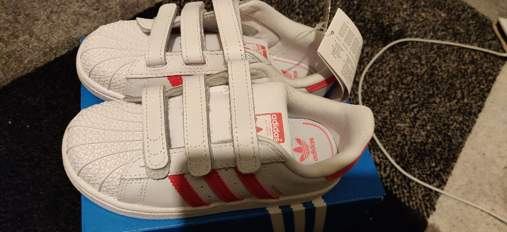 Brand New Adidas Superstars girl's