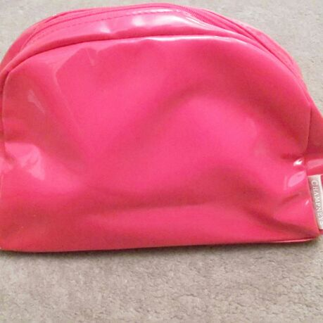 Champneys Red Patent Toiletries Bag - Unused