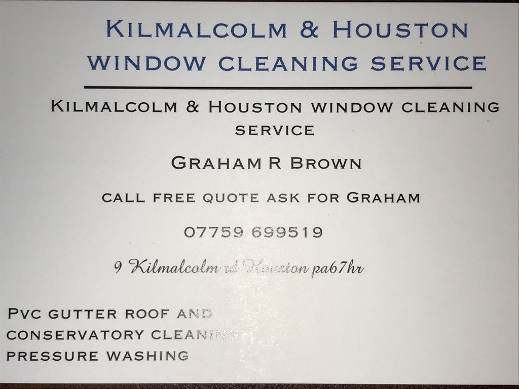 Kilmalcolm & Houston window cleaning service
