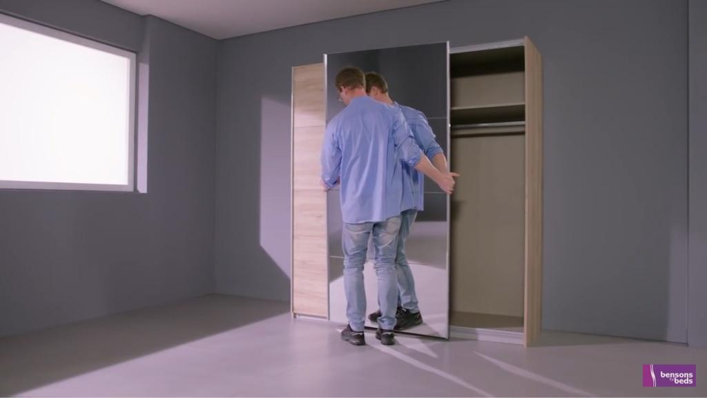 Sleepmasters double wardrobe 180cm (w) x 197cm (h)