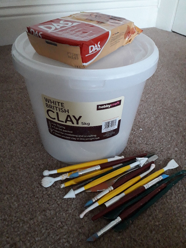 Airdry Clay and Modelling tools