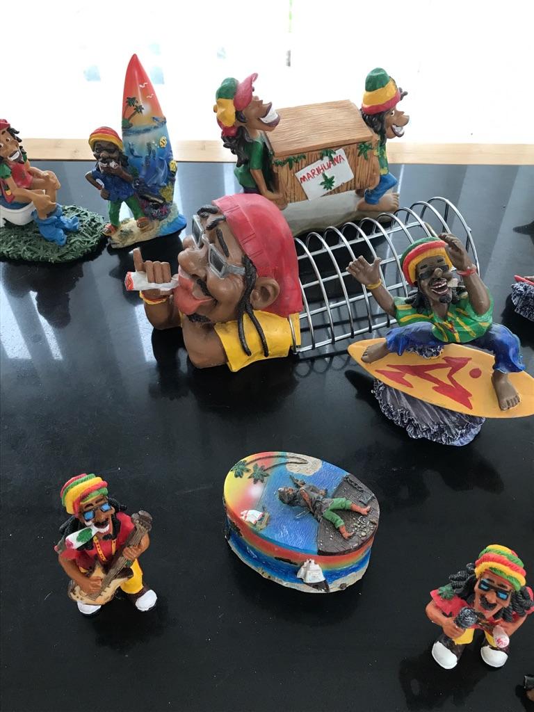 Selection of marahuna ornaments