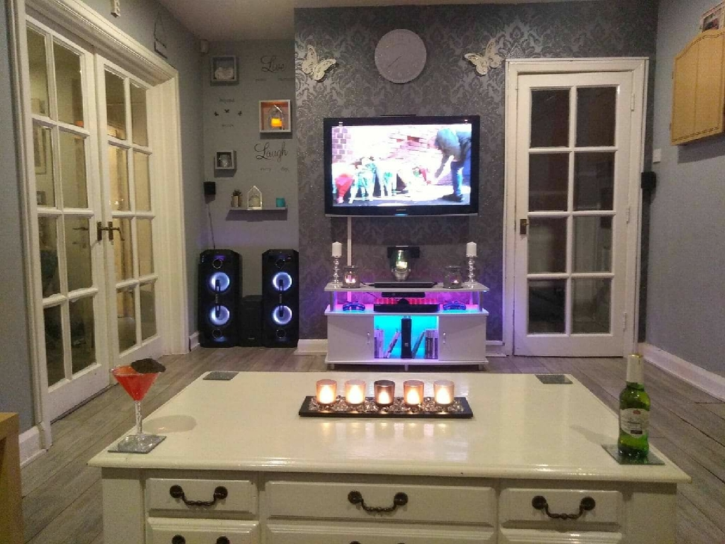 2 Sony GTK-X1BT bluetooth colour changing led lights speakers