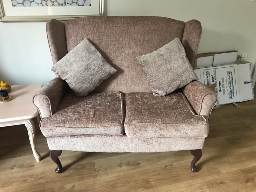 Velvet two seater sofa like new!