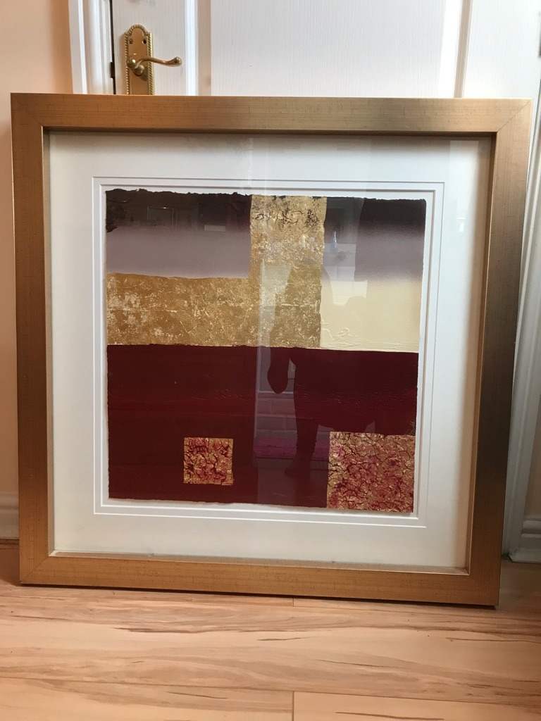 Large Red and gold picture