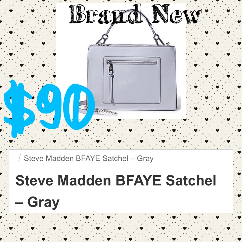 Steve Madden Gray Cross body bag