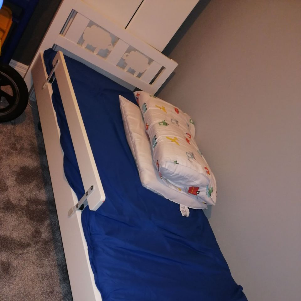 Ikea whote toddler wooden bed