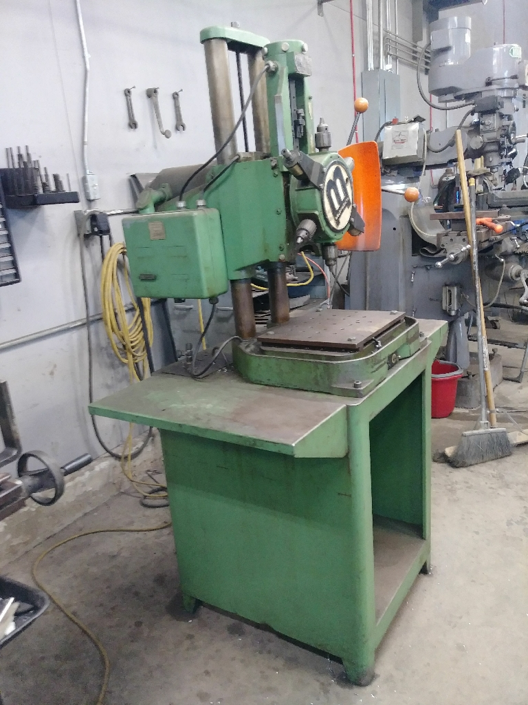 Burgmaster drill press and tap