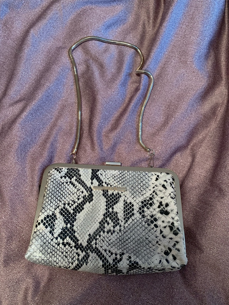 River island snakeskin clutch bag