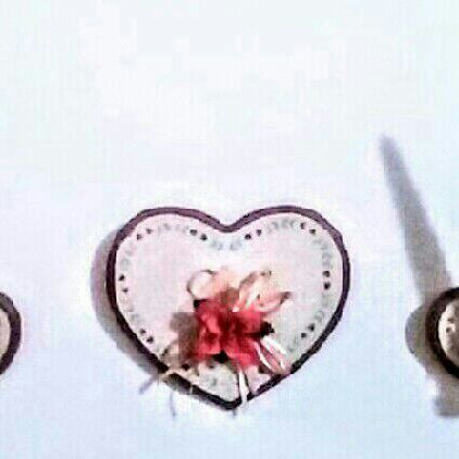 Home interior heart shaped wall plaques