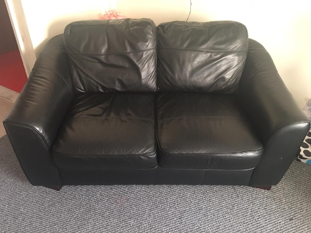 2x2 seater leather sofas