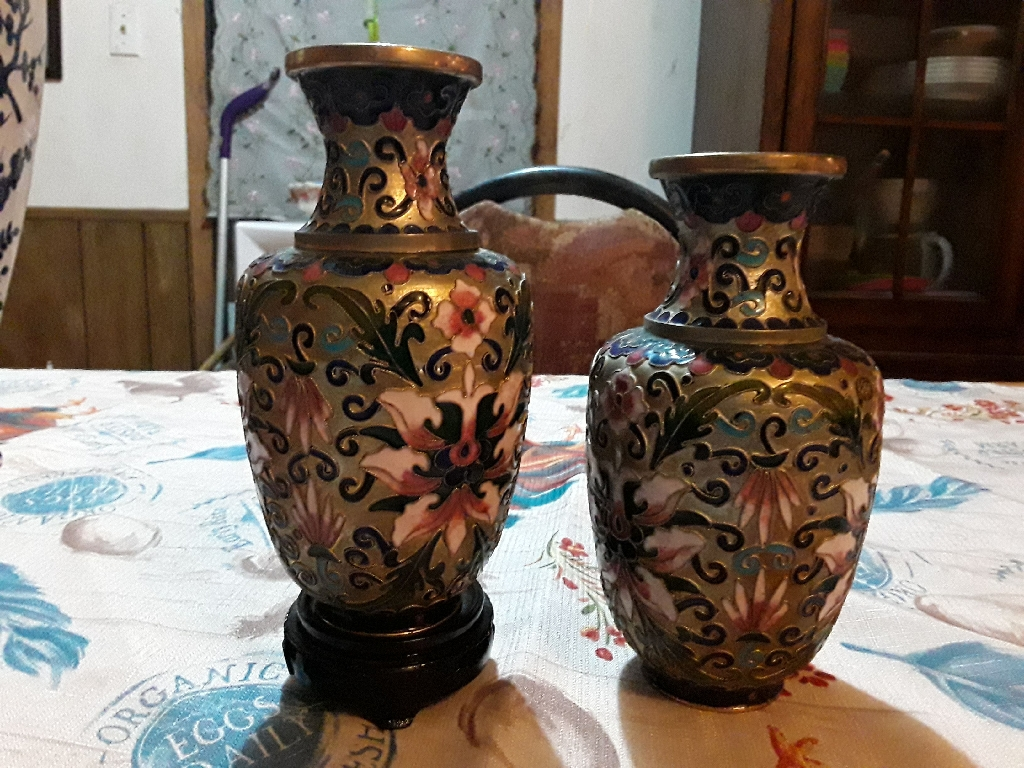 Miniature Japanese Closionne Vases