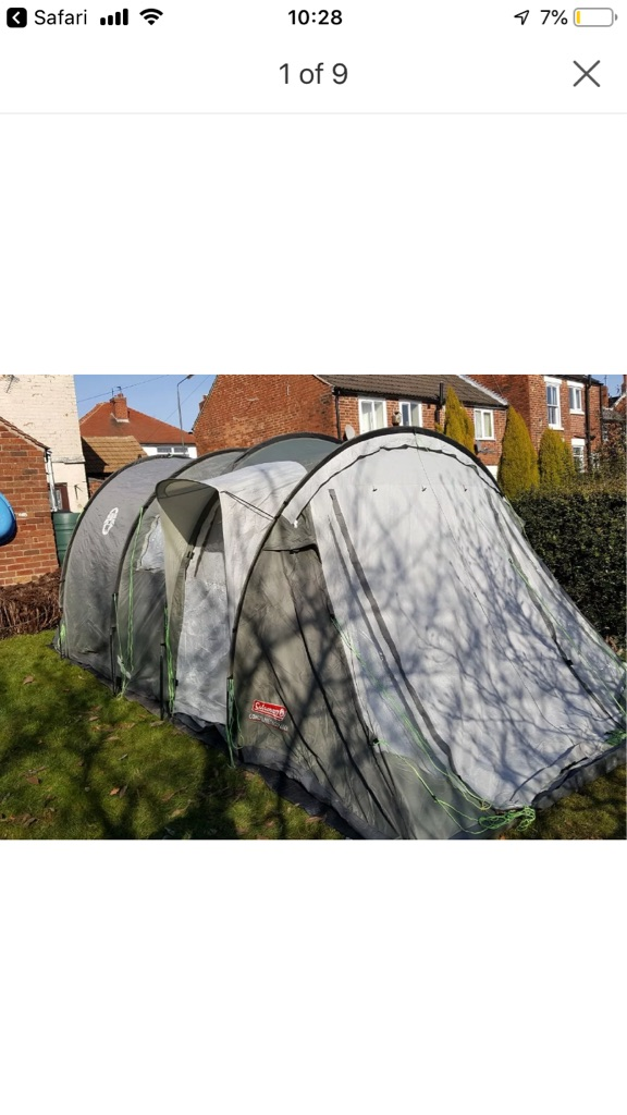 Coleman deluxe 6 person tent with side porch