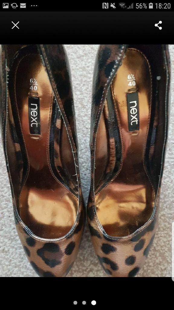 Next leopard high heels 6.5