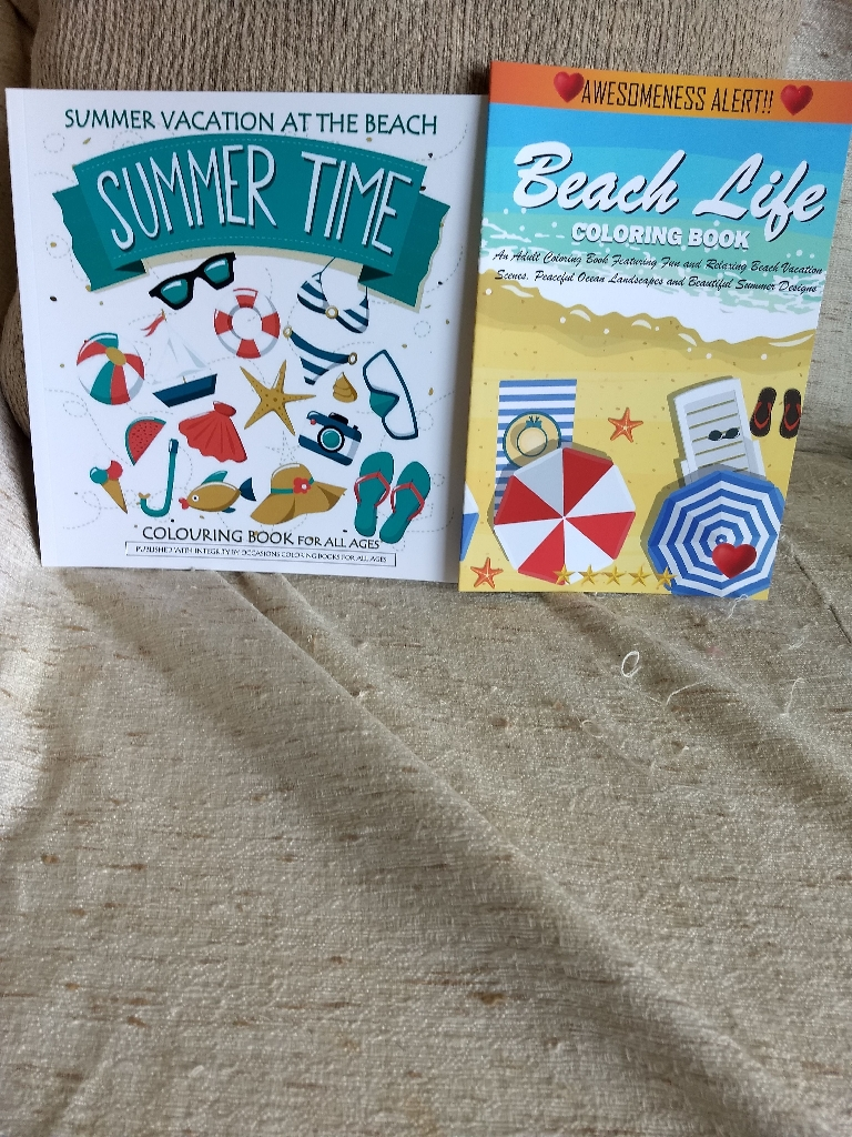 Summertime coloring books